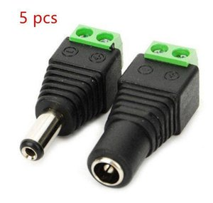 Cheap Connectors 5pcs Female +5 Pcs Male Dc Connector 2.1*5.5mm Power Jack Adapter Plug Cable Connector For 3528 5 jllbTD dh_garden