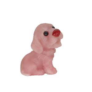 Natural talc hand-carved dog figurines cute animal sculpture ornaments office home accessories crystal agate stone sculpture collection art