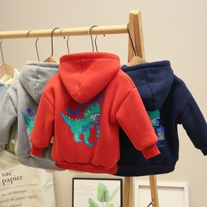 Autumn Winter Baby Boys Girls Long Sleeves Sweatshirts Sweater Kids Clothes New Arrival Child Plus Velvet Hoodies F1216