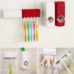 Bathroom Accessories Set Automatic Toothpaste Squeezer Toothpaste Holder Toothbrush Stand Wall Mount Rack Bathroom Tools Set