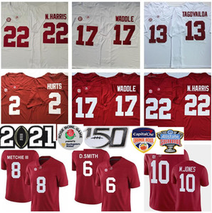 2021 NCAA Playoff Alabama Crimson Tide Nájee Harris Jersey Mac Jones Tua Tagovailoa Jalen Halen Jaylen Waddle Devonta Smith Henry Football