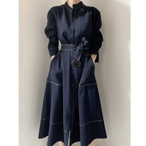 [EWQ] Autumn New Long Sleeve Simple And Fashionable Ladies Coat Plus Size Casual Ladies Trendy Clothing Women's Windbreaker 201125
