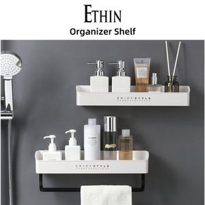 Ethin Hot Bathroom Corner Shelves Shampoo Holder Kitchen Storage Rack Mess Shower Organizer Wall Holder Space Saver Household Items