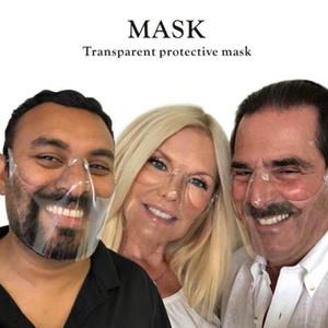 DHL Transparent protective mask Durable Cycling Mask Face Shield Combine Plastic Reusable Transparent Clear Face Mask Bandage BEA2589