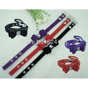 50pcs cheap wholesale dog for small dogs,dhl fedex free shipping pet collar with bowknot decoration,hot sale collars Z1127