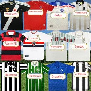Retro Palmeiras Classic Soccer Jersey Botafogo Cruzeiro Recife PE Atlético Mineiro Santos Bahia Camisa de Fútbol Internacional