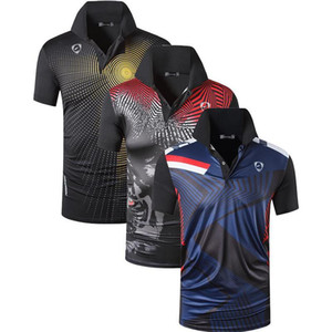 jeansian 3 Pack Men's Sport Tee Polo Shirts POLOS Poloshirts Golf Tennis Badminton Dry Fit Short Sleeve LSL265-266-267 Pack Q1121