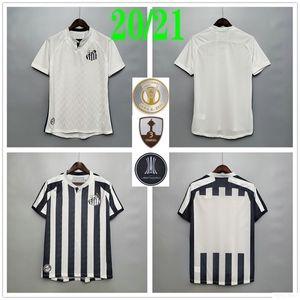 2020 NEUE Santos FC FC-Fußball-Trikots Soteldo RODRYGO PATO GABRIEL DODO RENATO SASHA Custom 20 21 Home Away Black White Football Hemd Uniform