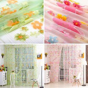 2020 Yeni Çiçek Dantel Tül Perdeler Perdeler Pencere Izgarası Ev Dekorasyon Çiçek Dantel Perdeleri Için