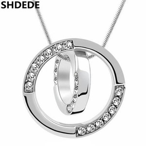 SHDEDE Austrian Crystal Necklace Pendants For Womens Female Ladies Fashion Jewelry Choker Rhinestone Brand Bijouterie -1471
