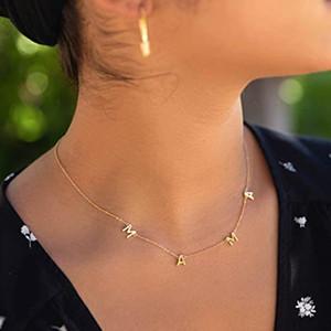 Mama lettera collana pendente in oro argento lettera di rame collana festa della mamma gioielli di moda regalo per il regalo di compleanno della mamma