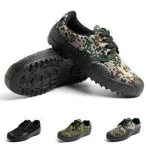 새로운 위장 낮은 캔버스 신발 남성 야외 블랙 녹색 평면 내 마모 스포츠 운동화를 크기 36-46 열 하이킹 신발 여자