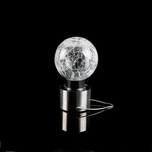 Crackle Topu Kolye Lambası Mini Cam Paslanmaz Çelik Güneş Enerjisi Bahçe Dekor Asılı Lambalar Popüler Taşınabilir Sıcak Satış 4 2HJ J1