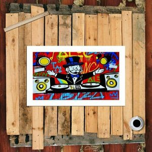 """Alec Monopoly Artworks """"IBIZA"""" Wall Decor Handpainted &HD Print Oil Painting On Canvas Wall Art Canvas Pictures 210205"""
