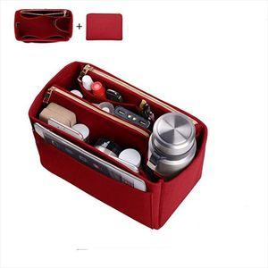 Womens Makeup Organizer Felt Insert Bag For Handbag Travel Inner Purse Portable Cosmetic Bags Fit