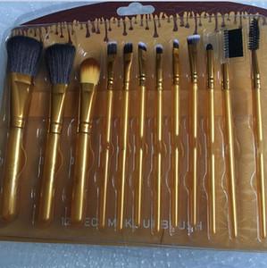 Quente 12 pçs / set Marca Maquiagem Escova De Maquiagem Face Creme Power Foundation Escovas Multulas Beleza Cosmética Escovas De Ferramentas Conjunto Com Caixa