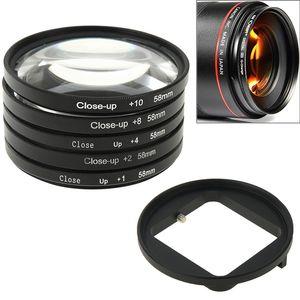 6 in 1 58mm Close-Up Lens Filter Macro Lens Filter Filter Adapter Ring for GoPro HERO3