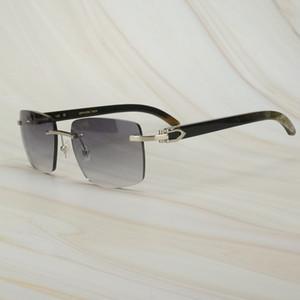 Black Friday Retro Oversized Square Raw Impression Buffalo Horn Sunglasses for Men Carter Mens Sun Glasses Brand Designer Shades