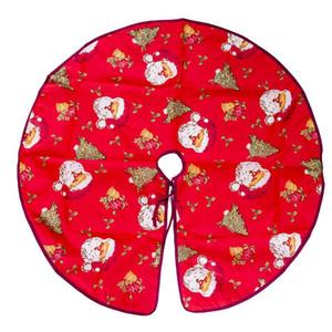 1pcs 90cm Red Santa Claus Snowflake Flower Christmas Tree Skirt Aprons Home Xmas New Year Decor Festival Party Decoration 62304