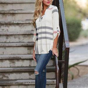 Women's Fashion Loose Long Sleeve Plaid Printed New Shirt Tops
