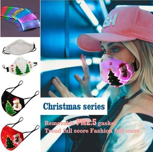Christmas Glowing Mask With PM2.5 Filter LED Luminous Masks Masquerade Rave Mask Halloween Designer Face Mask GH1162