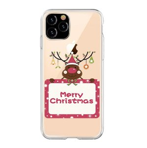 Suitable for 12 pro max mobile phone case new Christmas gift transparent TPU anti-drop 11 promax mobile phone case lanyard