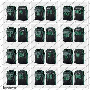 Hommes CelticsBostonEdwards 11 Kanter 0 Tatum 12 Rozier 7Brown Basketball Jersey Carsen Enes Jayson Jaylen Déclaration Jersey