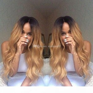 9A Grade 150% Density Human Hair wigs Ombre 1b 27# fashion wave full lace wig Virgin hair glueless wig lace front wig