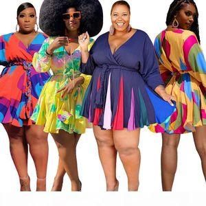 African Dress 2019 Summer Elegant Office Lady Women Pink Midi Dress Ladies Floral Print Half Sleeve Pleated A Line Dress