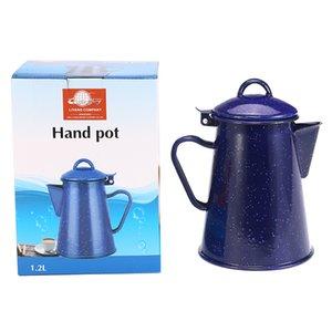 0.8L-2,4l Emaille Kaffeekanne Hand Tee Emaille Wasserkocher Induktionkocher Gasherd Emaille Kessel Universal für Hausküche 201126