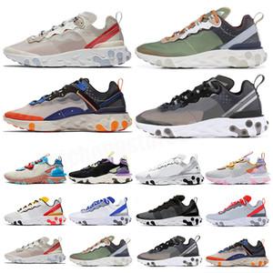 Epic React 87 Qualidade reagir elemento de visão 55 87 Undercover Anthracite Homens Mulheres Casual Sapatos Preto Iridescente Sneakers Treinadores Sapatos Esporte 36-46