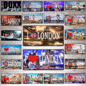 30X15CM LONDON City Tower BridgeTravel Souvenir Vintage Metal Sign Bar Wall Home Shop Decor Retro Poster