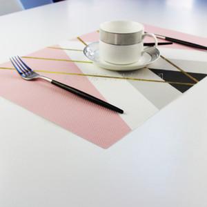 PVC-Druck-Diamanttisch-Matte ELK-Placemat Geometrische Figur Farbe Platzpads Superior-Qualität mit verschiedenen Stilen 4xj J1