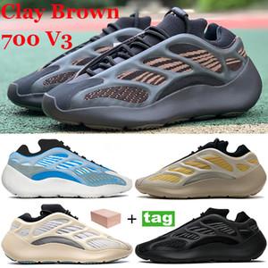 Neue 700 v3 mit Box Clay Brown Runner Laufschuhe SaFlower Azareth Alvah Azael Reflektierende Männer Frauen Turnschuhe im Dunkeln leuchten