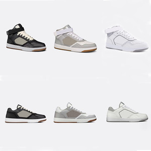 Homens B27 Oblique Sneakers Designer Sneakers Mulheres alta superior Runner Trainers qualidade superior couro genuíno Low-top lace-up sapatos com Box 258