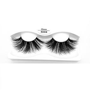 2020 NEW 25mm 3D Mink Eyelashes Natural Soft False Eyelash Big Volume Long Eyelash Extension For Makeup
