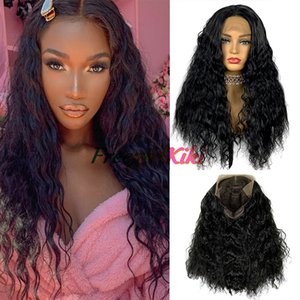 Fashion long Curly wave Lace Front Human Hair Wigs Brazilian Bob Wig wholesale synthetic wig