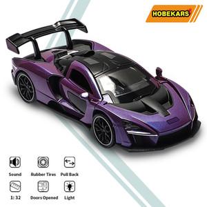 HBEKARS 1:32 Diecasts Oyuncak Araçlar Senna Alaşım Metal Model Araba Simülasyon Spor Araba Ses ve Işık ile Çocuk Hediyeler LJ200930