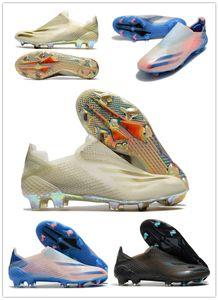 Chaussures de football Hommes Annonces X fgr + FG Influsion Footwear Footwear Blanc Métallique Or Core Noir Pré-Commandes X Ghosted.1 FG FTWWHT Soccer Tarcelles