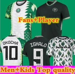 Fãs e jogador2020 Nigéria pré-jogo treinamento de futebol jersey homens + crianças 20 21 okechukwu okocha ahmed musa mikel camisa de futebol kit uniforme