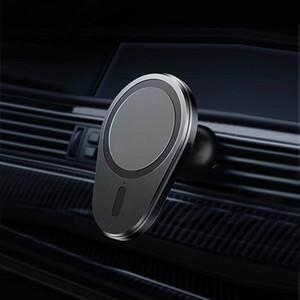 Cargador inalámbrico de coche magnético Magnético Montaje de automóviles FAST Wireless Magsafing Cargador de coche para iPhone 12 Pro Max Mini