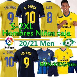 2020 2021 كاديز كرة القدم بالقميص مجموعات عدة الرجال البالغين والأطفال 20 21 نادي قادش ALEX LOZANO NANO أليخو MARI PEREA SALVI كرة القدم قميص الزي الرسمي