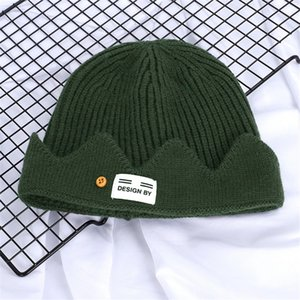 Fashion Beanie Knitted Hat Trendy Fluorescent Color Beanies Boys Girls Hip Hop S Winter Knit Warm Street Skiing Hat#552