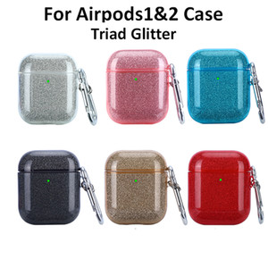 air pods cases Earphone Case For Apple Airpod case 1 2 Glitter Shiny Bling Bluetooth Wireless Earphone Protective Cover For AirPods pro Case