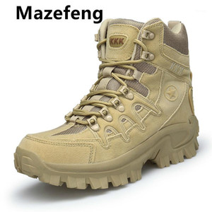 2020 Big Size 39-46 Desert Tactical Mens Boots Wear-resisting Army Boots Men Waterproof Outdoor Hiking Men Combat Ankle1