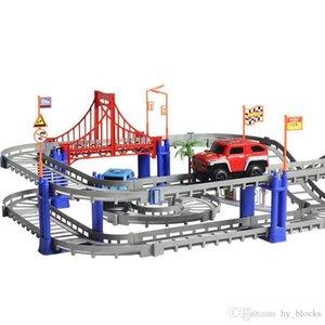 DIY 3D разнообразие Электрический трек железнодорожный автомобиль скоростной железнодорожный железнодорожный модуль красочные гоночные дороги собирают образовательные игрушки подарок для детей