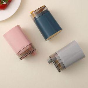 Portafoglio automatico portafoglio contenitore creativo plastica tavolo domestico toothpick scatola di immagazzinamento portatile denti a secchiello distributore EED4222