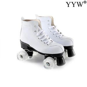 2020 Girls Women Adult Kids Roller skates Skating Shoes Sliding Inline Sneakers 4 wheels 1 Row Line Outdoor Training Gym Sport