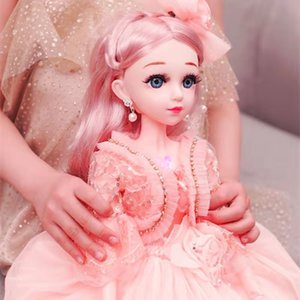 60cm BJD Doll with Princess Clothes Accessories Movable Jointed 1 3 Dolls Wedding Gown Dress Toys for Girls Gift