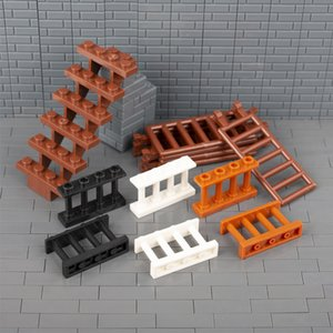 City House Parts Building Blocks Fence Rail Enclosure Barrier Garden Ladder Stair Assemble Bricks DIY Toys Children Friends C056